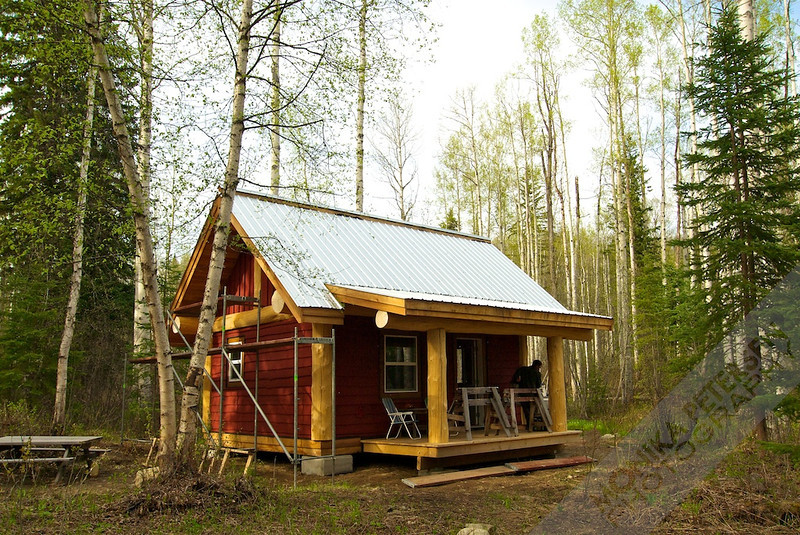 Our 16x20 post and beam cabin for Post and beam cottage designs